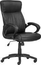 """Főnöki szék, műbőrborítás, fekete lábkereszt, """"BALTIMORE"""", fekete"""