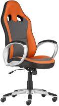 """Főnöki szék, mesh és műbőr borítás, műanyag lábkereszt, """"OREGON"""", szürke-narancs"""