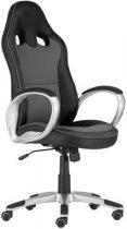 """Főnöki szék, mesh és műbőr borítás, műanyag lábkereszt, """"OREGON"""", fekete-szürke"""