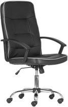 """Főnöki szék, műbőr borítás, króm lábkereszt, """"LGA 71 CR"""", fekete"""