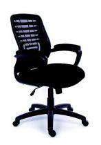 """MAYAH Irodai szék, karfás, fekete szövetborítás, hálós háttámla, fekete lábkereszt, MAYAH """"Smart"""""""