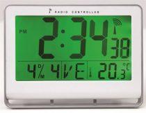 "ALBA Falióra, rádióvezérlésű, LCD kijelzős, 22x20 cm, ALBA ""Horlcdneo"", ezüst"