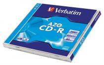 "VERBATIM CD-R lemez, Crystal bevonat, AZO, 700MB, 52x, normál tok, VERBATIM ""DataLife Plus"""