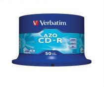 "VERBATIM CD-R lemez, Crystal bevonat, AZO, 700MB, 52x, hengeren VERBATIM ""DataLife Plus"""
