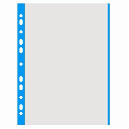 DONAU Genotherm, lefűzhető, színes szélű, A4, 40 mikron, narancsos felület, DONAU, kék