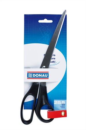DONAU Olló, irodai, 25,5 cm, DONAU, fekete