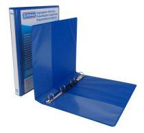 DONAU Gyűrűs könyv, panorámás, 4 gyűrű, D alakú, 44 mm, A4, PP, DONAU, kék