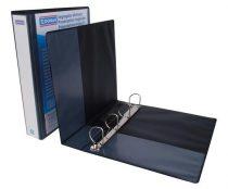 DONAU Gyűrűs könyv, panorámás, 4 gyűrű, D alakú, 63 mm, A4, PP, DONAU, fekete