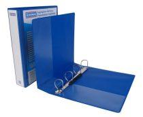 DONAU Gyűrűs könyv, panorámás, 4 gyűrű, D alakú, 63 mm, A4, PP, DONAU, kék