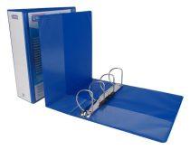 DONAU Gyűrűs könyv, panorámás, 4 gyűrű, D alakú, 80 mm, A4, PP, DONAU, kék