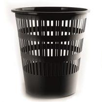 DONAU Papírkosár, 12 liter, DONAU, fekete