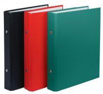 DONAU Gyűrűs könyv, 2 gyűrű, 30 mm, A5, PP/karton, DONAU, piros