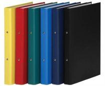 DONAU Gyűrűs könyv, 2 gyűrű, 35 mm, A4, PP/karton, DONAU, citromsárga
