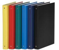 DONAU Gyűrűs könyv, 4 gyűrű, 35 mm, A4, PP/karton, DONAU, citromsárga