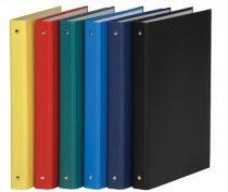 DONAU Gyűrűs könyv, 4 gyűrű, 35 mm, A4, PP/karton, DONAU, sötétkék