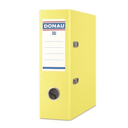 "DONAU Iratrendező, 75 mm, A5, PP/karton, DONAU ""Master"", citromsárga"