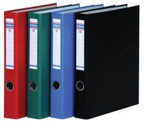 DONAU Gyűrűs könyv, 4 gyűrű, D alakú, 45 mm, A4, PP/karton, DONAU, piros