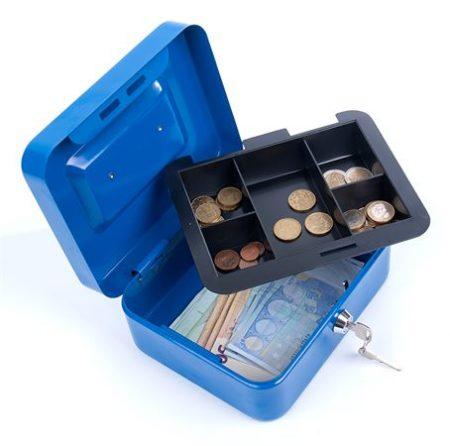 DONAU Pénzkazetta, 15,2x11,5x8 cm, DONAU, kék