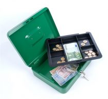 DONAU Pénzkazetta, 15,2x11,5x8 cm, DONAU, zöld