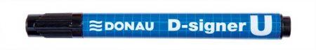"DONAU Alkoholos marker, 2-4 mm, kúpos, DONAU ""D-signer U"", fekete"