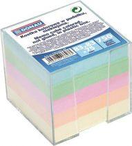 DONAU Kockatömb, 83x83x75 mm, adagolóval, DONAU, színes