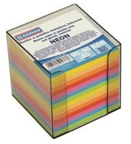 DONAU Kockatömb, 89x89x85 mm, adagolóval, DONAU, színes