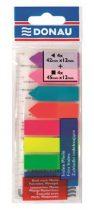 DONAU Jelölőcímke, műanyag, címke és nyíl forma, 8x25 lap, 12x45/42 mm, DONAU, neon szín