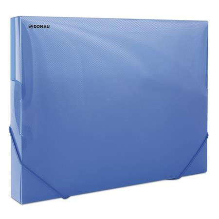 0f6cb797fe19 DONAU Gumis mappa, 30 mm, PP, merevített, A4, DONAU, áttetsző kék ...
