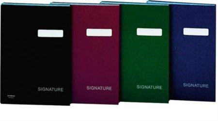 DONAU Aláírókönyv, A4, 19 elválasztó lappal, karton, DONAU, sötétkék