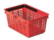 DURABLE Bevásárlókosár, műanyag, 19 l, DURABLE, piros