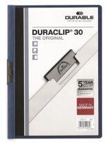 """DURABLE Gyorsfűző, klipes, A4, DURABLE """"DURACLIP® 30"""", sötétkék"""