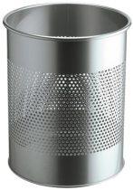 DURABLE Papírkosár, fém, 15 liter, DURABLE, ezüst