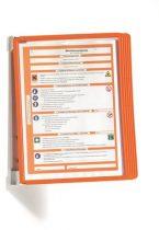 """DURABLE Bemutatótábla tartó, fali, 5 db bemutatótáblával, DURABLE """"VARIO® WALL 5"""", narancssárga"""