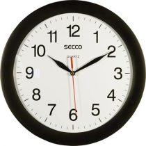 SECCO Falióra, 28 cm,  SECCO, fekete keretes