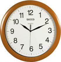 """SECCO Falióra, 32 cm,  SECCO """"Sweep Second"""", fa hatású keret"""