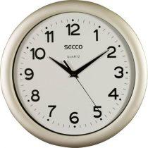 "SECCO Falióra, 28,5 cm,  SECCO ""Sweep Second"",ezüst színű keret"