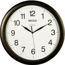 SECCO Falióra, 32 cm,  SECCO, fekete keretes