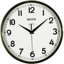 SECCO Falióra, 24,5 cm,  SECCO, króm színű keretes