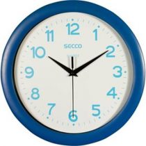 """SECCO Falióra, 30 cm,  kék keretes, kék számokkal, SECCO """"Sweep second"""""""