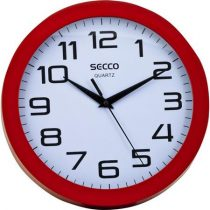 "SECCO Falióra, 25 cm, piros keretes, SECCO ""Sweep second"""