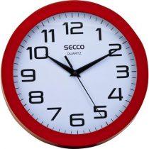 "SECCO Falióra, 24,5 cm, piros keretes, SECCO ""Sweep second"""