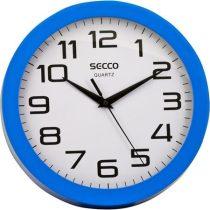 """SECCO Falióra, 24,5 cm, kék keretes, SECCO """"Sweep second"""""""
