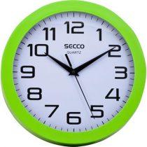 "SECCO Falióra, 25 cm, zöld keretes, SECCO ""Sweep second"""