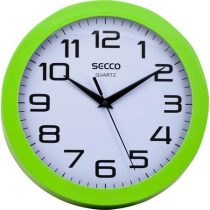 "SECCO Falióra, 24,5 cm, zöld keretes, SECCO ""Sweep second"""
