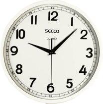 SECCO Falióra, 24 cm,  SECCO, fényes fehér keret
