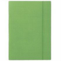 DONAU Gumis mappa, karton, A4, kockás, DONAU, zöld