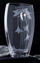 LORENTINA Lorentina Vase ®, virágmintás, 35 cm MADE WITH SWAROVSKI ELEMENTS®