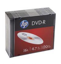 HP DVD-R lemez, 4,7 GB, 16x, vékony tok, HP