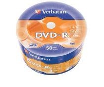 VERBATIM DVD-R lemez, 4,7GB, 16x, zsugor csomaglás, VERBATIM