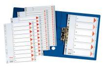 ESSELTE Regiszter, műanyag, A4, 1-6, ESSELTE,szürke